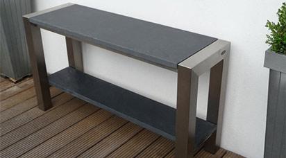Side Table Voor Buiten.Sidetable Bladen Van Graniet Hardsteen Basalt Marmer