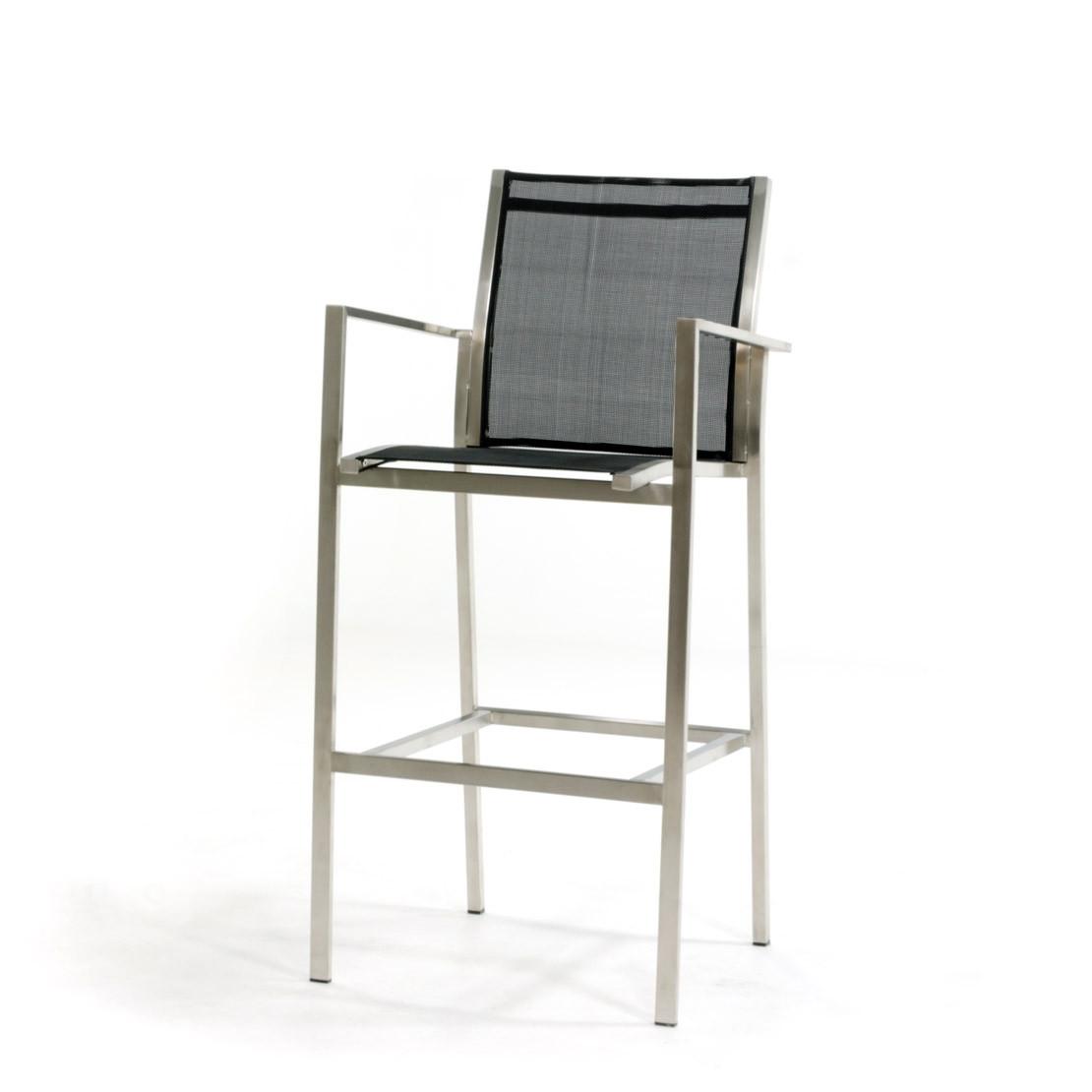 Falck RVS black bar chair