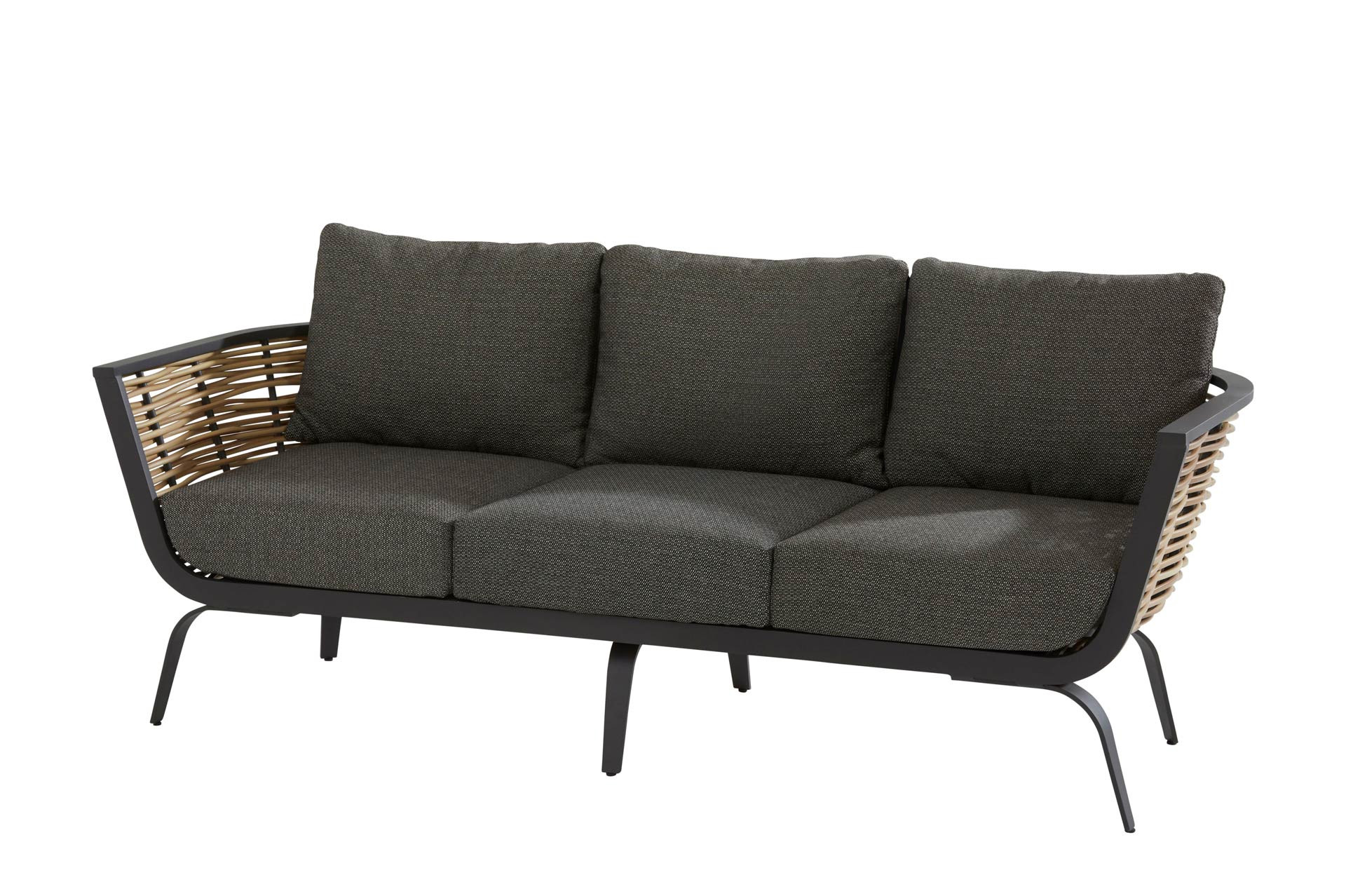 Antibes 3 seater bench 2 arms with 6 cushions