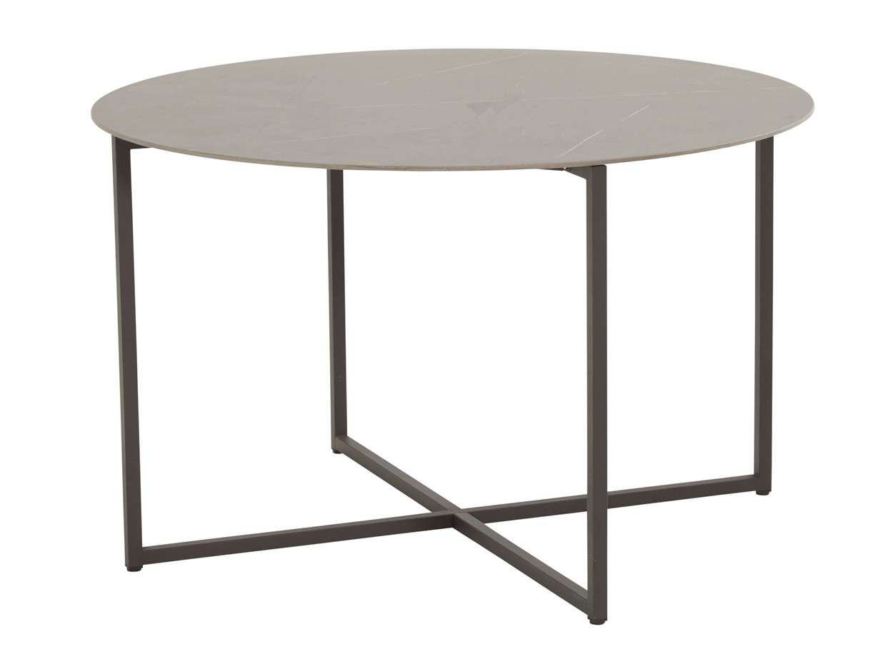 Quatro dining table 120 cm ø Anthracite marble