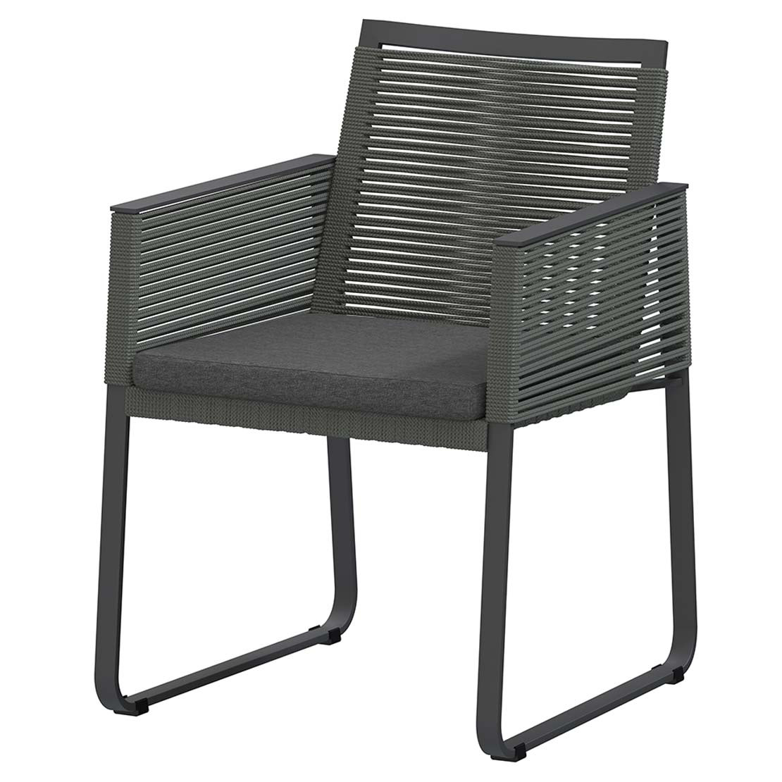 Ortea dining chair Platinum with cushion
