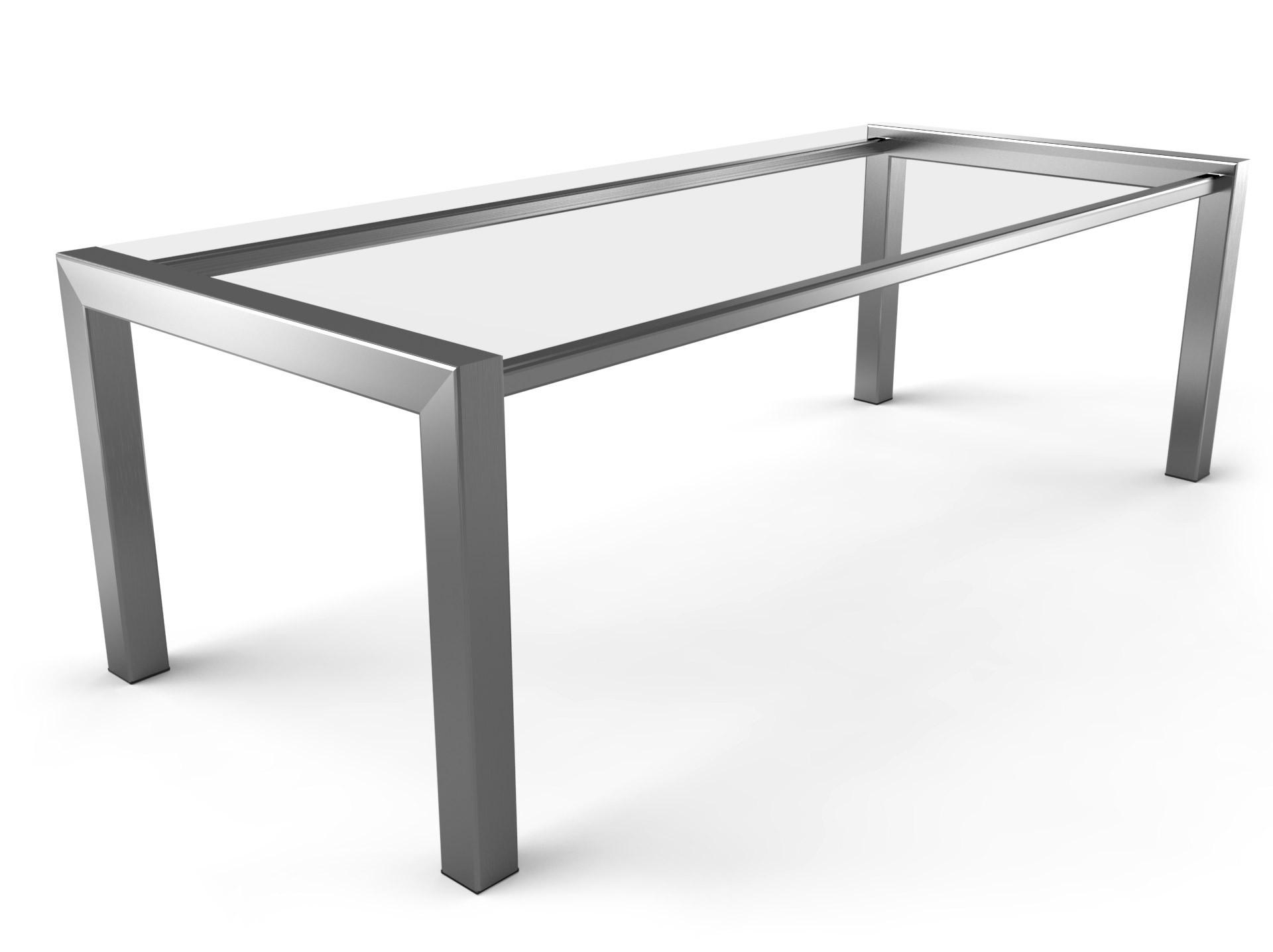 Tafelonderstel Zijliggers RVS 2200x1000mm