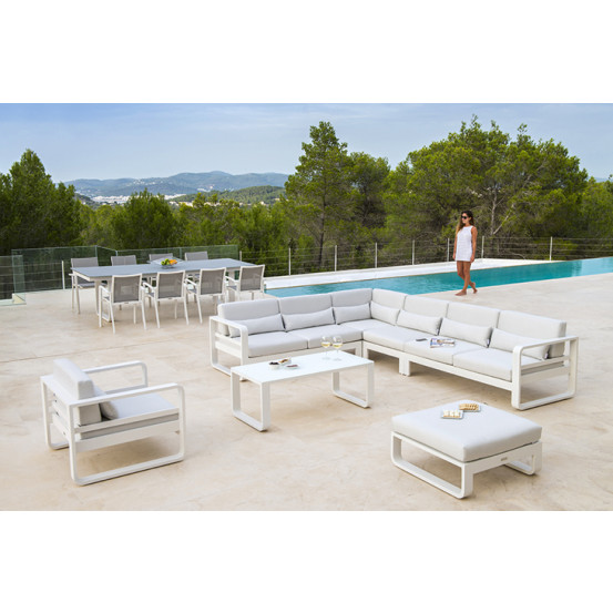 Elida white dining tuinstoel stapelbaar