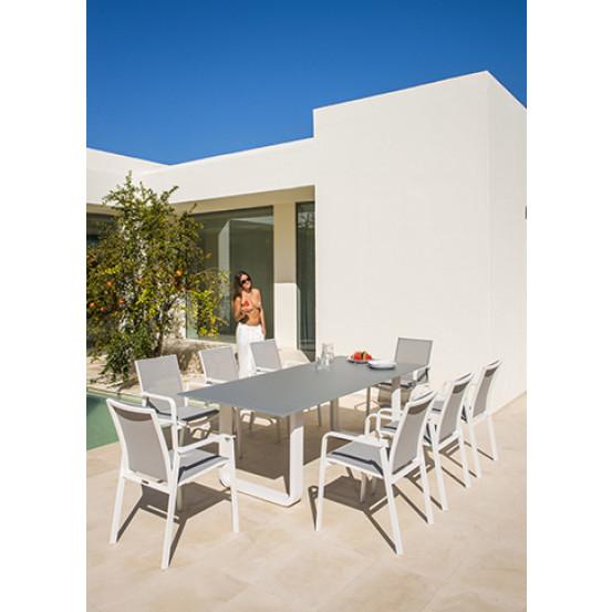 Philo white dining tuinstoel stapelbaar