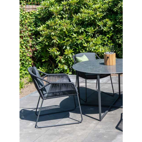 Accor mid grey dining tuinstoel