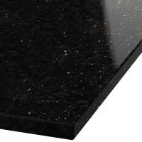 Blad 30mm dik Black Galaxy graniet (gepolijst)