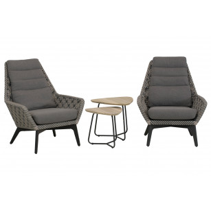 Savoy loungestoelen set 4-delig