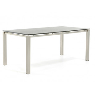 RVS Tuintafel met granieten tafelblad