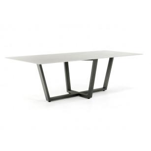 Dekton tafelblad 12mm Keon betonlook met industrieel tafelonderstel