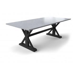 Robuuste tuintafel met betonlook hardstenen tafelblad