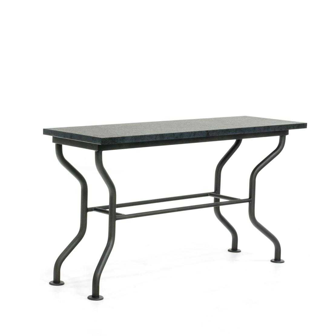 Side-table met basalt (gevlamd) blad