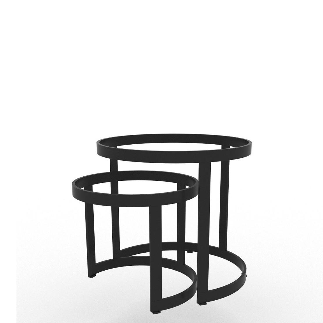 Coffeetable onderstel set Bertus alu charcoal Ø35 en Ø45
