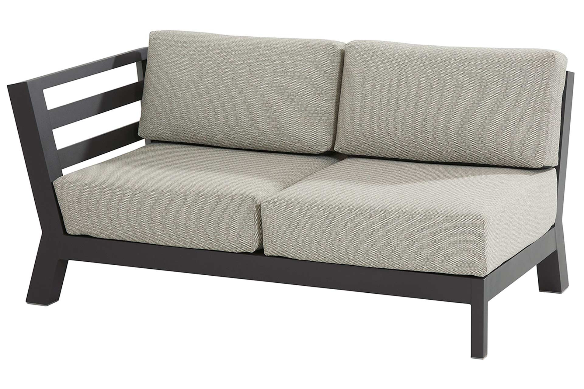 Meteoro modular 2 seater bench R arm with 4 cushions Anthracite