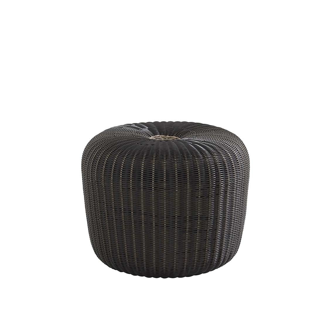 Small Donut anthracite hocker