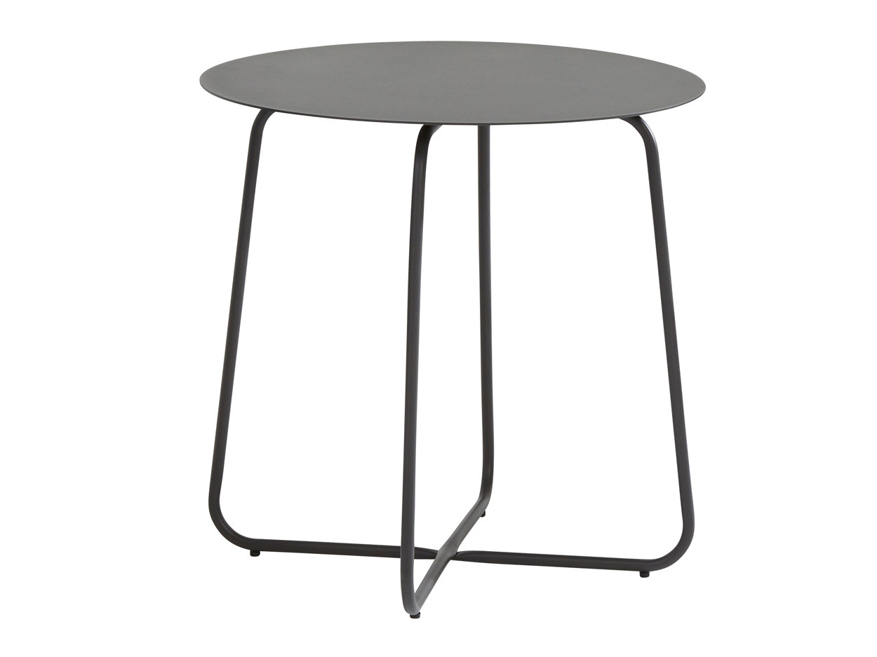 Dali anthracite bijzet tafel rond 73cm