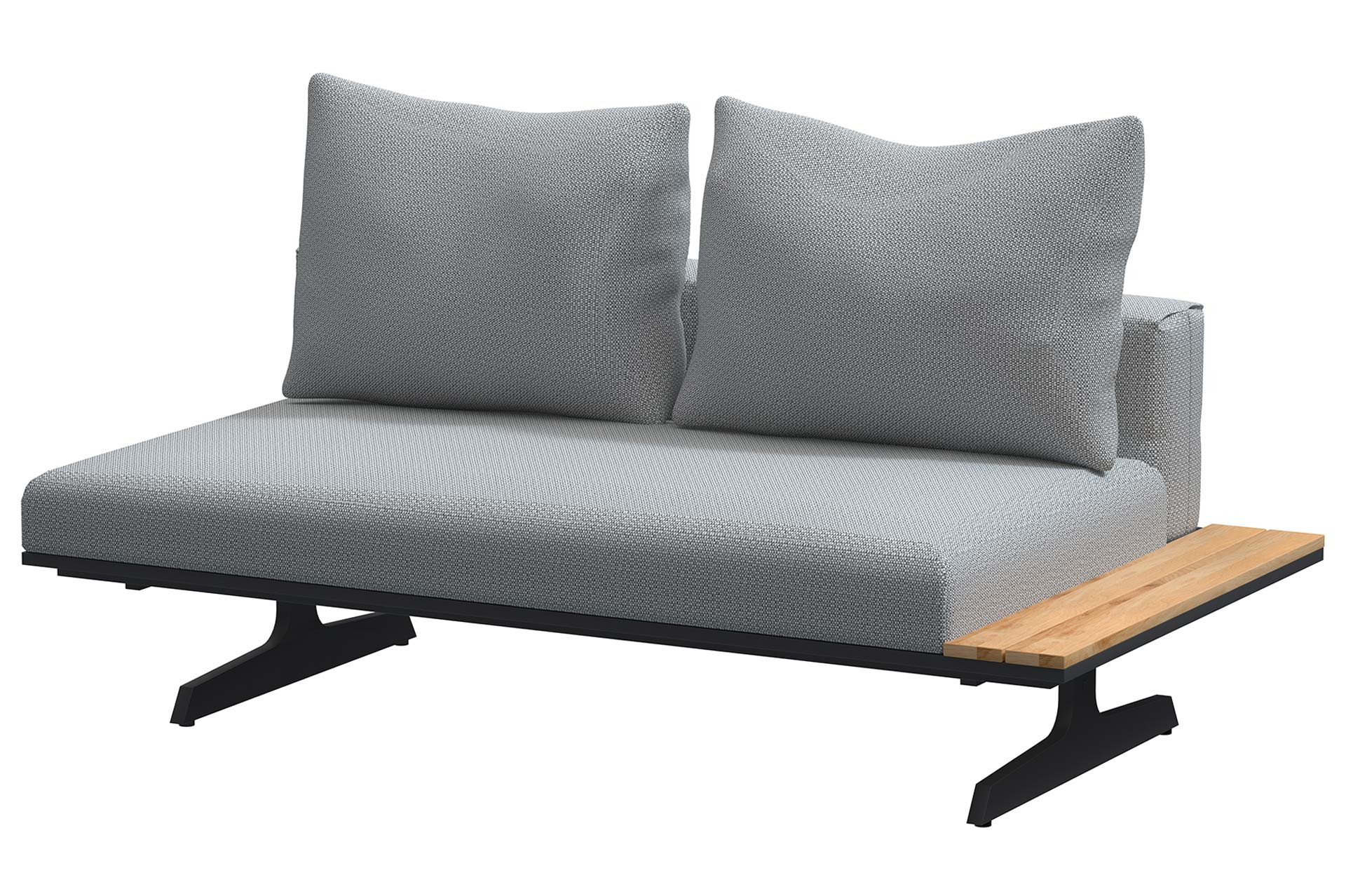 Endless multi concept Anthracite bench and chaise lounge 172 x 95 cm
