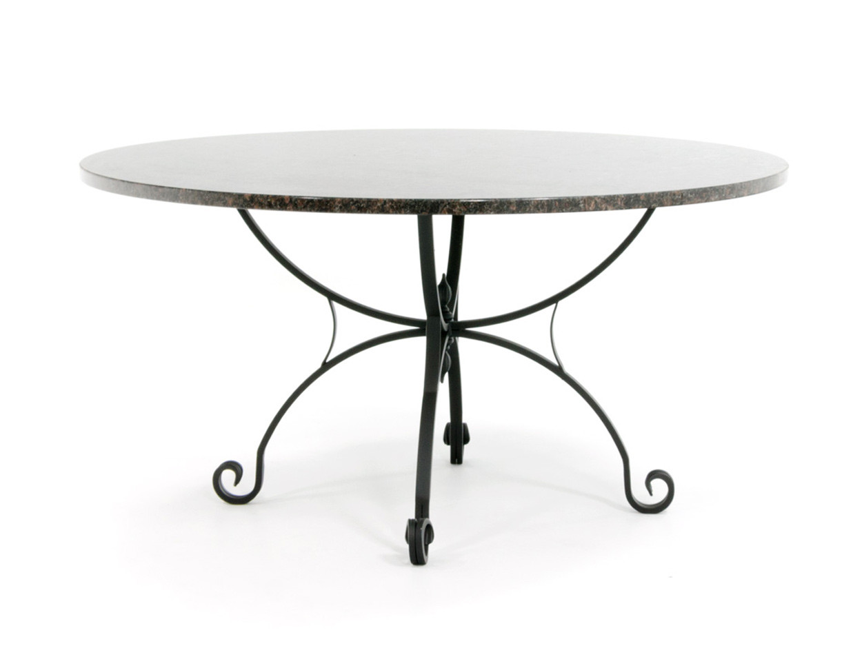 Klassieke tuintafel met granieten tafelblad