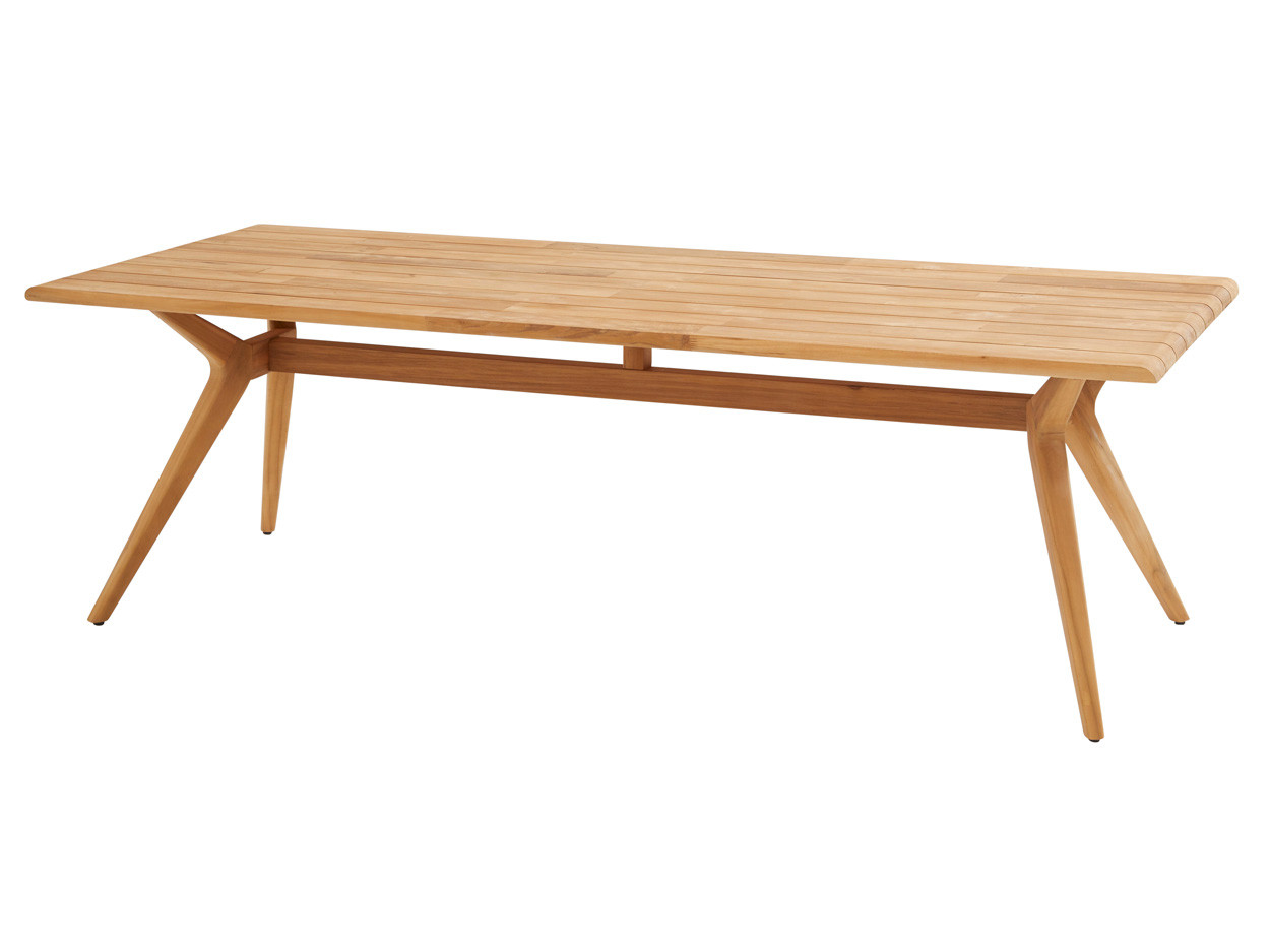 Bel air diningtable Natural teak 240 x 100 cm