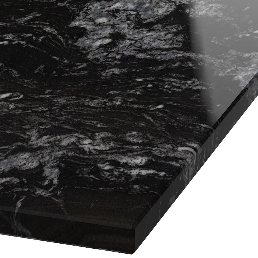 Blad 30mm dik Black Beauty graniet (gepolijst)