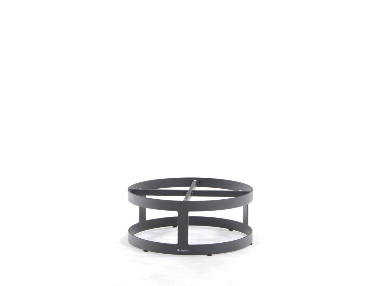 Coffeetable onderstel Burford alu charcoal Ø620mm