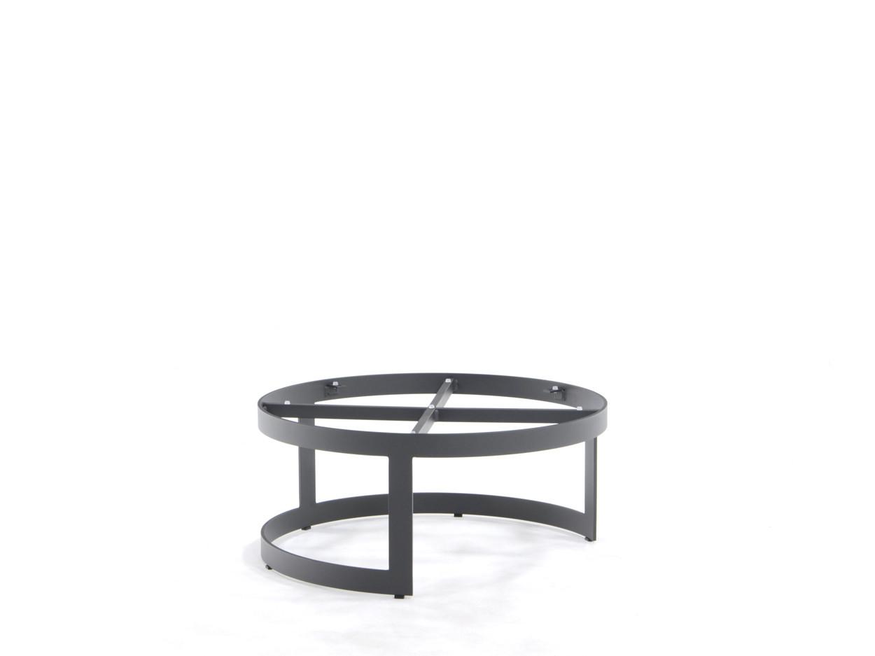 Coffeetable onderstel Burford alu charcoal Ø770mm