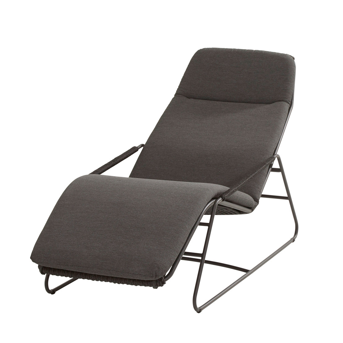 Elba sunlounger with cushion rope