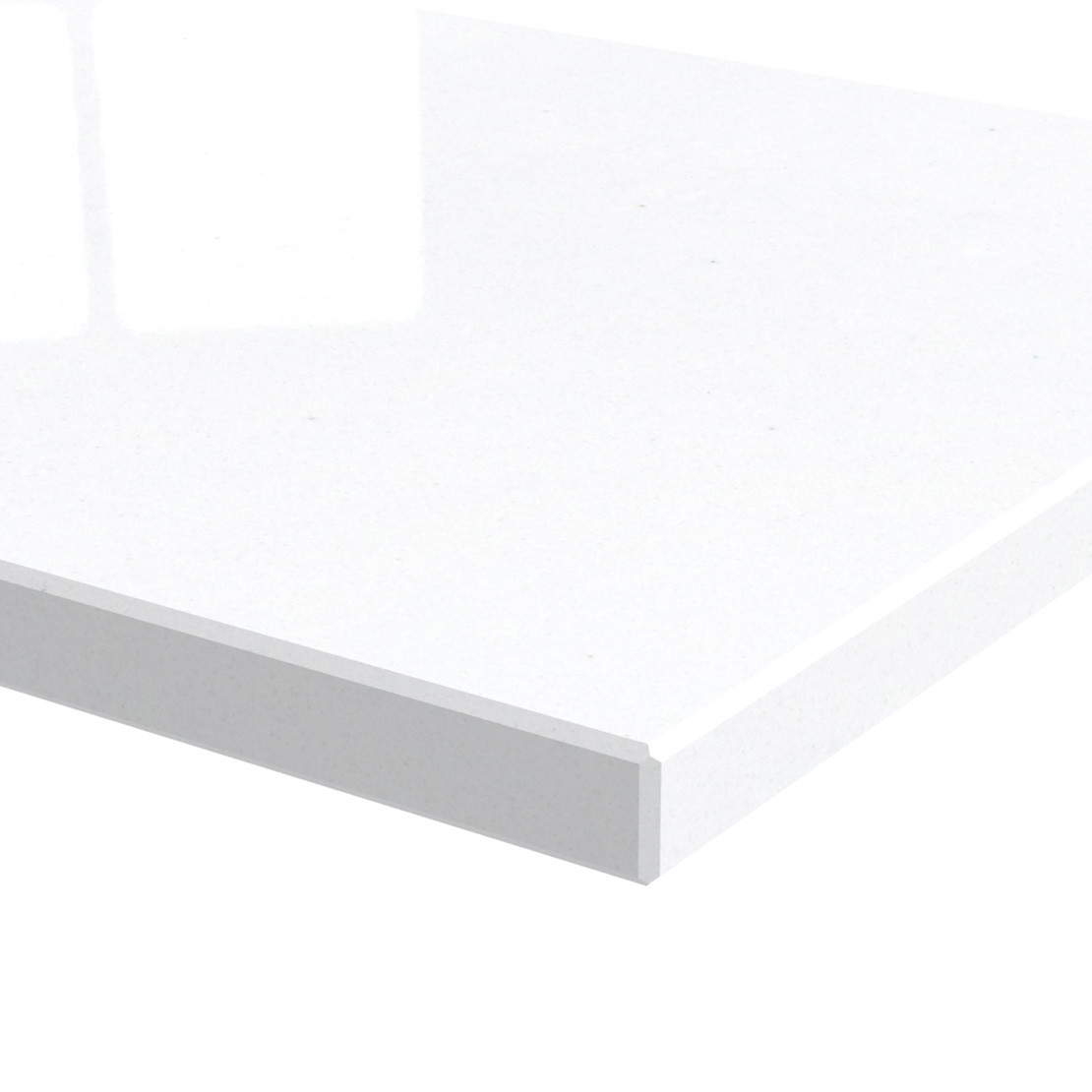Blad 20mm dik Pure White kwartscomposiet (gepolijst)