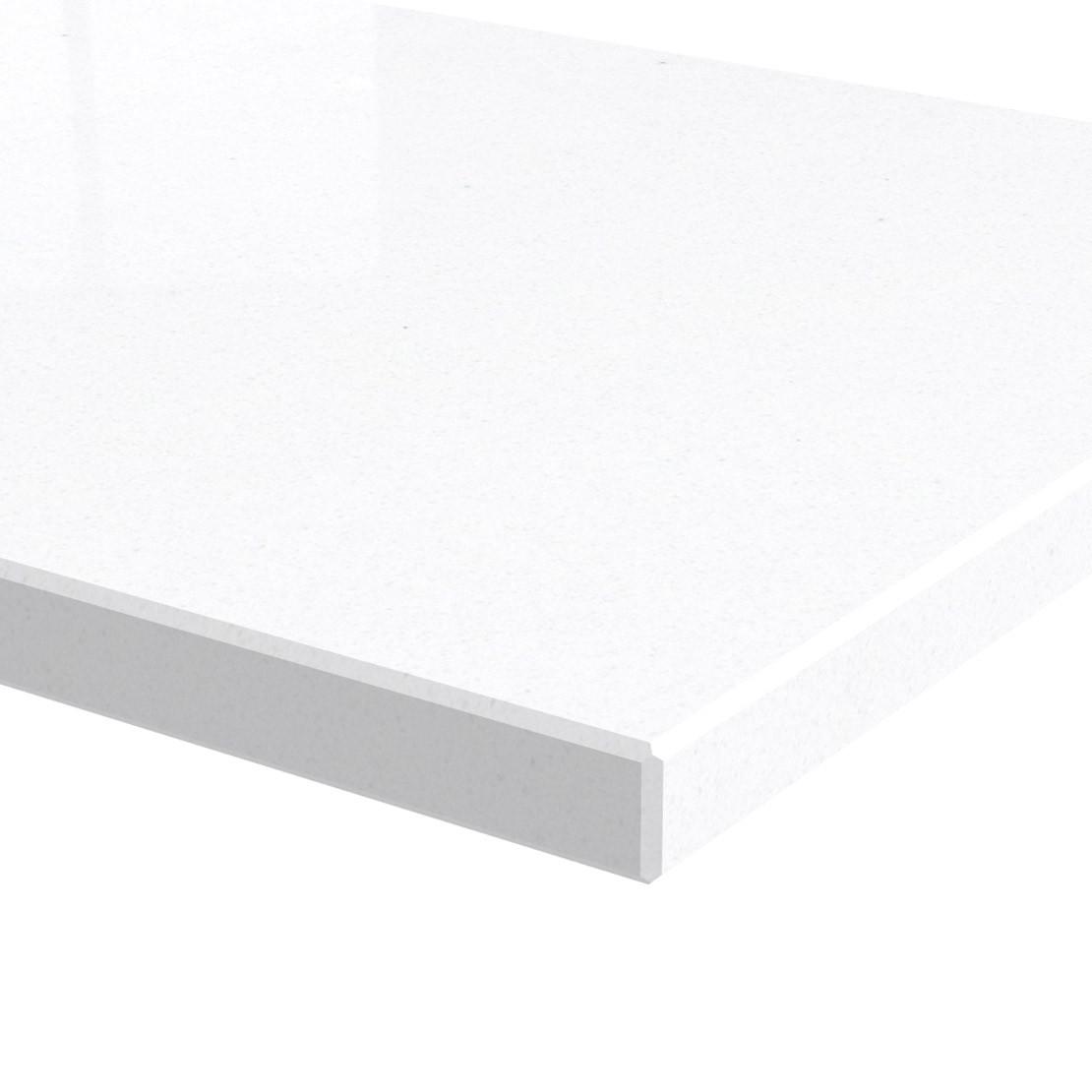 Blad 20mm dik Pure White kwartscomposiet (velvet)