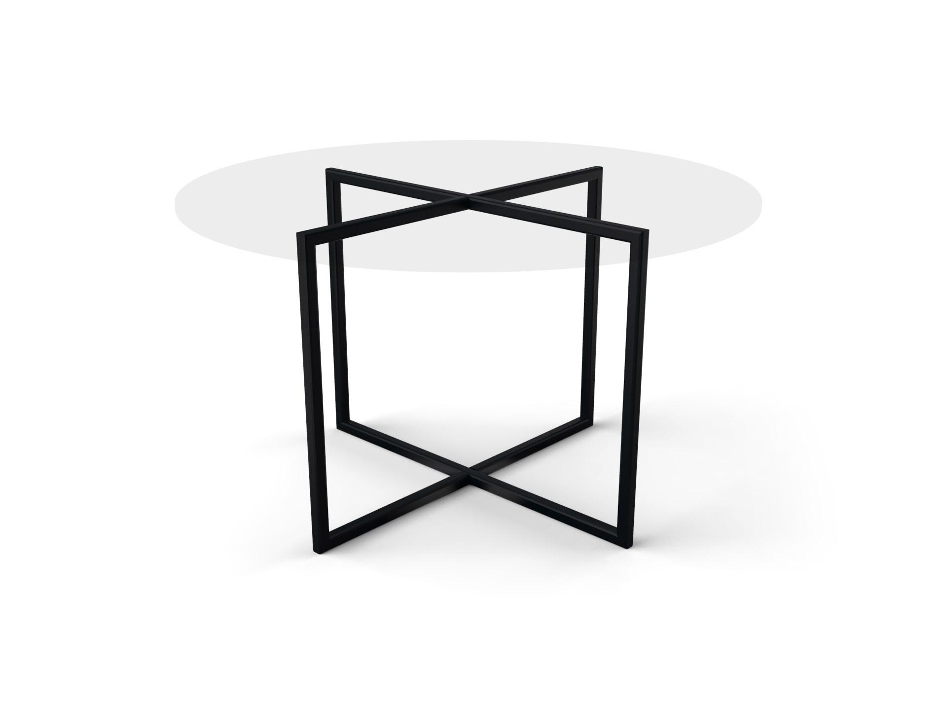 Tafelonderstel Lexo 980x980mm zwart (mat, zandkorrelstructuur) gecoat